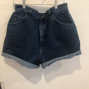 Vintage High Waisted Lee Denim Shorts